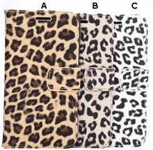 Lady lovely leopard leather case phone shell cover for samsung galaxy S6