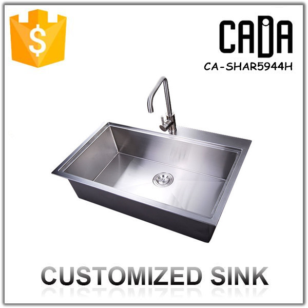 Deep Handmade Single Single Bowl Stainless Steel Laundry Sink - Buy ...