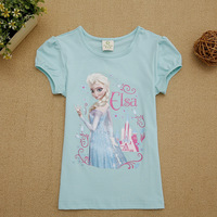 Snow Queen Elsa In Frozen Plain Shirts Kids T-shirts With Words Print