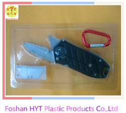 clear PVC knife blister packaging