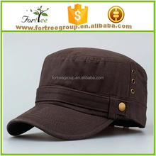2015 hot selling products wholesale flat top military caps fashion men military cap and hat