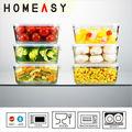 horno de microondas y seguro de vidrio de almacenamiento de alimentos contenedores