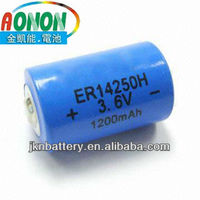 ER14250 shenzhen good quality battery for Utility meter,GPSAlarm or security equipment