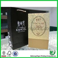 black paper wine gift packaging bag