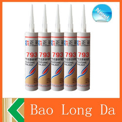 Concrete sealant and sealant silicone coloured with silicone sealant cartridge