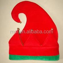 Children party Christmas santa helper's red green elf hat MCH-0674