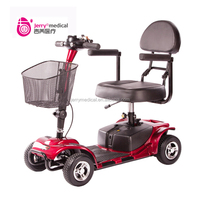 Portable 4 wheel electric scooter for elderly people use