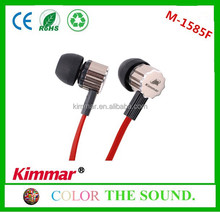 Mini and cute fashion cheap metallic earphones with 10mm speaker and 3.5mm stereo plug