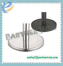 Stainless stel Silver U shaped base for stacking retractable barrier