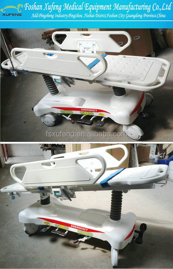 Aluminum/Stainless steel folding ambulance stretcher trolley for emergency