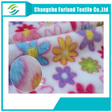 new products china colorful flowers flannel fleece fabric warm bed sheets/couples pajamas