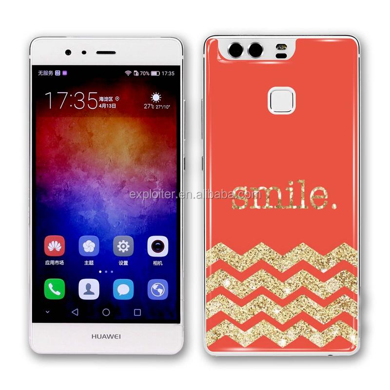 China resina de epoxy etiqueta engomada del teléfono celular para huawei p9 etiqueta del gel