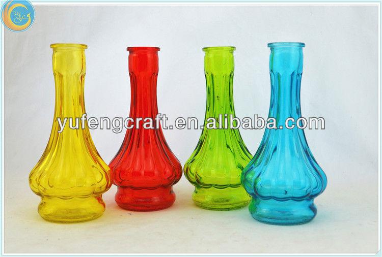 petit couleur long cou vase en verre de gros accueil deocor pas cher vases en verre cristal id. Black Bedroom Furniture Sets. Home Design Ideas