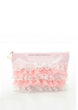 Beautiful lace satin cosmetic bag