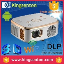 Original The built-in Android / wifi/1.2G CPU/1G RAM/2G FLASH 1280 * 800 active shutter 3D HD home LED DLP 0.45 'DMD projector