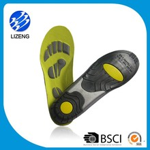 PU anti slip running pad foot pressure PU excellent shoe insoles for sports