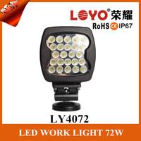 72w waterproof led mechanical construction work light 12 V 24V LED work light