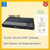 Ejoin 32 port 128 sim cards GSM VOIP gateway,smart IP phone connector device