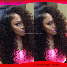High Density Wig Natural Color Curl Virgin Human Hair Full Lace Wig WIth Natural Hairline