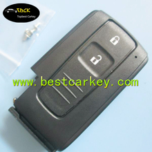 High quality 2 buttons remote key shell without emergency key blade for Toyota Prius key Toyota smart key auto