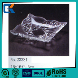 Cheap square glass like durable acrylic salad plate