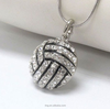Precision Crystal Volleyball Ball Sports Snake Chain Necklace
