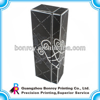 Black Paper Packaging Boxes with Embossing Surface