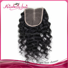China wholesale price fast deals malaysian deep curly virgin hair closures