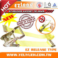 [EZ LOAD] 2 Inch Ratchet lashing Belt Straps for Container Truck