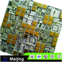 Top grade stone and glass blends mosaic for cheap floor tiles