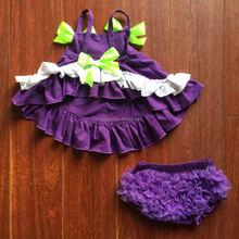 Elegant wholesale knit ruffle pants chiffon ruffles bloomer kids diaper cover baby girl ruffle bloomer