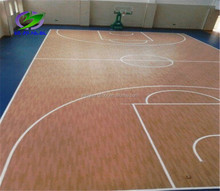 Antislip PVC wood pattern basketball sports floor in rolls