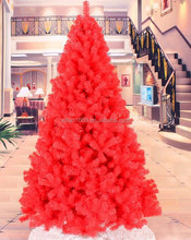 Red color Christmas tree