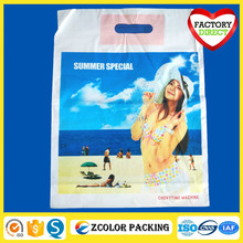 printed custom made reusable shopping plastic bags
