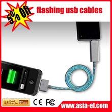 The newest ! fashional ! light cable for phone/charging phone light cable For iphone/Ipod/iPad