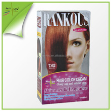 Asia supplier vegetable hair dye with hair dye comb and gloves free sample