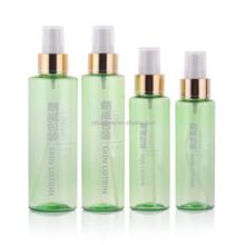 150ml pet kunststoff schulter kosmetik-verpackungen feiner nebel triggertypsprüheinheit pumpe wasserflasche