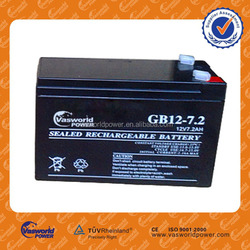 High Quality Sealed Lead Acid battery 12v 7Ah for LED light Emerency light
