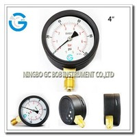 High quality brass internal black steel general pressure gauge