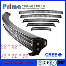 "Prima Double Row offroad jeep 50"" Curved Led light bar, led bar light, 288W 50inch led bar lights for Jeep"