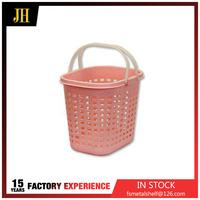 Plastic handle baby laundry basket
