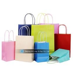 2015 custom luxury popular gift bag paper shopping bag advertising paper bag