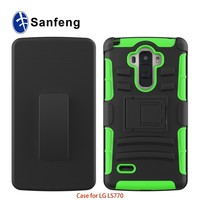MetropscT-mobile Carrier Heavy Drop Protector Case for LG G Stylo LS770 Belt Clip Holster Attached Protective Case