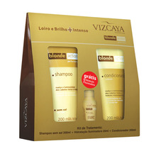 Treatment Kit (SH.+COND.+INT.TREAT.) Blonde Action Brazilian Sunflower Extract+Chamomile Extract Hair Treatment