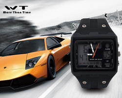A couple of sports waterproof and shockproof luminous dual display mode large screen digital watch