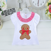 2016 hot sale new style Christmas clothes baby girl cotton T-shirt kids christmas t-shirts