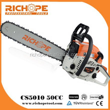 50cc gasoline chainsaw,chinese cheap chainsaw with oregon saw chain and japanese carburetor