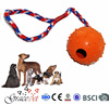 [Grace Pet] Interactive Dog Toy Ball with Rope, Dog Rubber Ball for Throw