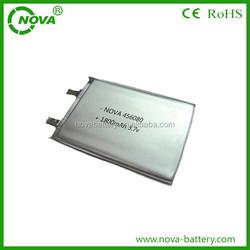 456080 polymer li-ion battery 3.7v 1800mah, 2100mah, 2200mah, 2400mah, 2500mah