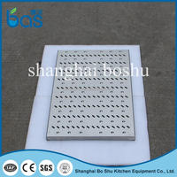 D300 industrial roof floor trough drain /ditch strainer covers for shower
